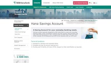 Hana Savings Account