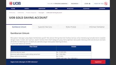 UOB Gold Saving Account