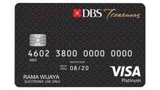 Kartu Debit DBS Treasures Visa Platinum