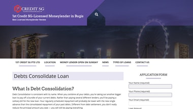 1st Credit  Debts Consolidate Loan