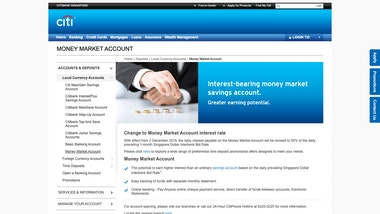 Citibank Money Market Account