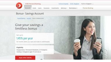 OCBC Bonus+ Savings Account