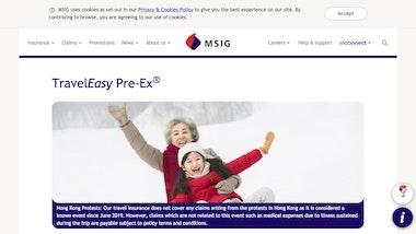 MSIG TravelEasy Standard Pre-Ex