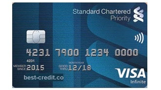 Standard Chartered Priority VISA Infinite Card