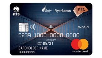 บัตรเครดิต เคทีซี เอ็กซ์ บางกอก แอร์เวย์ส เวิลด์ รีวอร์ด มาสเตอร์การ์ด