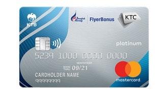 บัตรเครดิต เคทีซี บางกอก แอร์เวย์ส แพลทินั่ม มาสเตอร์การ์ด